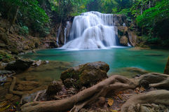 Deep forest Waterfall in Kanchanaburi, Thailand Royalty Free Stock Images