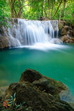Deep forest Waterfall in Kanchanaburi, Thailand stock photos