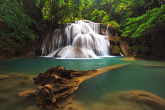 Deep forest Waterfall in Kanchanaburi, Thailand Royalty Free Stock Image
