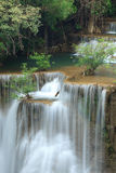 Deep forest Waterfall in Kanchanaburi, Thailand Stock Image