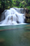 Deep forest Waterfall in Kanchanaburi, Thailand Royalty Free Stock Photos