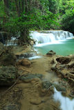 Deep forest Waterfall in Kanchanaburi, Thailand Stock Photography
