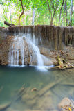 Deep forest Waterfall in Kanchanaburi in Thailand Royalty Free Stock Image