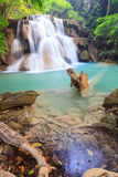 Deep forest Waterfall in Kanchanaburi, Thailand. Deep forest Waterfall in Kanchanaburi (Huay Mae Kamin), Thailand Royalty Free Stock Photography