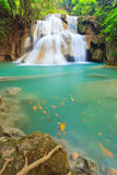 Deep forest Waterfall in Kanchanaburi, Thailand. Deep forest Waterfall in Kanchanaburi (Huay Mae Kamin), Thailand Stock Photo