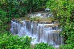 Deep forest Waterfall in Kanchanaburi, Thailand Royalty Free Stock Image