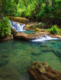 Deep forest Waterfall in Kanchanaburi, Thailand Stock Photography