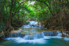 Deep forest Waterfall in Kanchanaburi, Thailand Royalty Free Stock Photography