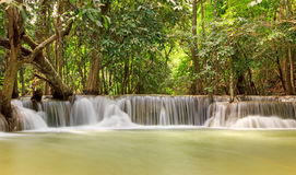 Deep Forest Waterfall, Kanjanaburi Thailand Stock Images