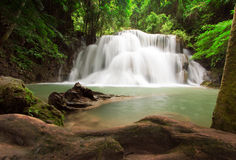 Deep Forest Waterfall, Kanjanaburi Thailand Royalty Free Stock Photography