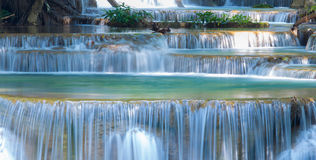 Deep forest waterfall at  Kanjanaburi, Thailand Stock Photo
