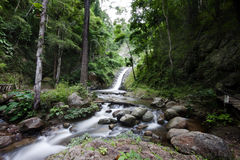 Deep forest waterfall in Lampang Stock Photos