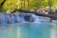 Deep forest waterfall locate in national park Western of Thailand Royalty Free Stock Images