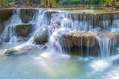 Deep forest waterfall at National Park Kanjanaburi Thailand Stock Image