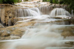 Deep forest waterfall National Park in thailand Stock Photo