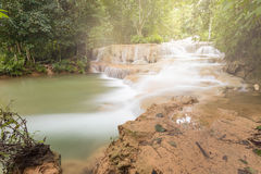 Deep forest waterfall National Park in thailand Stock Images