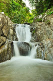 Deep forest waterfall in Rayong Stock Photos