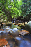 Deep forest waterfall in Saraburi, Thailand Royalty Free Stock Photography