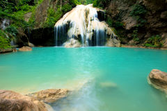 Deep forest Waterfall in Tak, Thailand Stock Photos