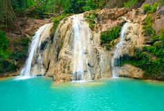 Deep forest Waterfall in Tak, Thailand Royalty Free Stock Photography