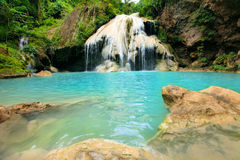 Deep forest Waterfall in Tak, Thailand Royalty Free Stock Image