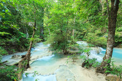 Deep Forest Waterfall in Thailand Royalty Free Stock Photography
