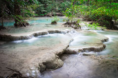 Deep forest Waterfall Royalty Free Stock Images