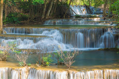 Deep forest waterfalls located in eastern of Thailand national park Royalty Free Stock Images