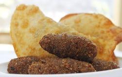 Deep fried在巴西充塞了酥皮点心食物 库存照片