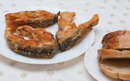 Deep-fried стейки вырезуба Стоковые Фотографии RF