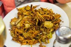 Deep fried artichoke Stock Photo