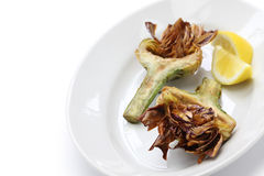 Deep fried artichoke, carciofi alla giudia Stock Photography