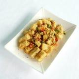 Deep fried bean curd with spicy salt Royalty Free Stock Photos