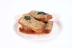 Deep Fried Bread with Shrimp and sesame Royalty Free Stock Photo