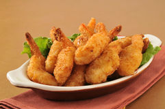 Deep fried butterfly shrimp Royalty Free Stock Photo