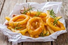 Deep fried calamari Stock Image