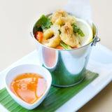 Deep Fried Calamari Rings Stock Photos