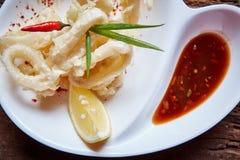 Deep Fried Calamari Rings Stock Photography
