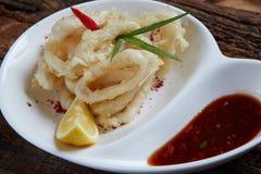 Deep Fried Calamari Rings Stock Photo