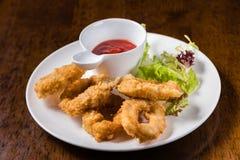 Deep Fried Calamari Rings Royalty Free Stock Photos