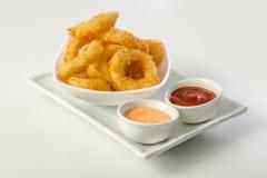 Deep Fried Calamari Rings Stock Images