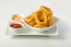 Deep Fried Calamari Rings Stock Image