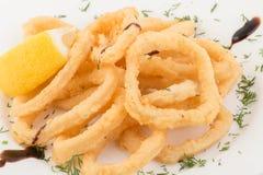 Deep fried calamari rings Royalty Free Stock Image