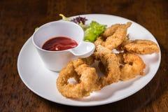 Deep Fried Calamari Rings Royalty Free Stock Photo