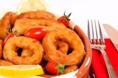 Deep fried calamari Stock Photos