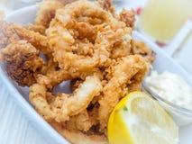 Deep fried calamari Stock Photo