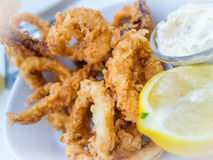 Deep fried calamari Royalty Free Stock Images