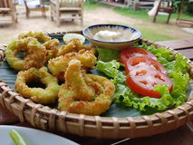 Deep fried calamari Royalty Free Stock Photo
