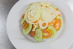 Deep fried calamari whit salad Royalty Free Stock Photography