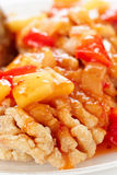 Deep fried carp in sweet-sour sauce, close-up Stock Photography